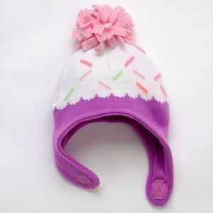 """JUMPING BEANS – """"CUPCAKE"""" WINTER HAT, (NWT)"""
